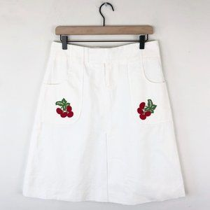 Vintage Alvin Valley Seersucker Cherry Patch Skirt